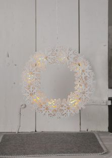 "LED-Fensterkranz ""Snowflake Wreath"", ca. 33 x 33 cm"