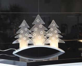 "Tischdekoration ""Plexi Trees"", 9 flammig"