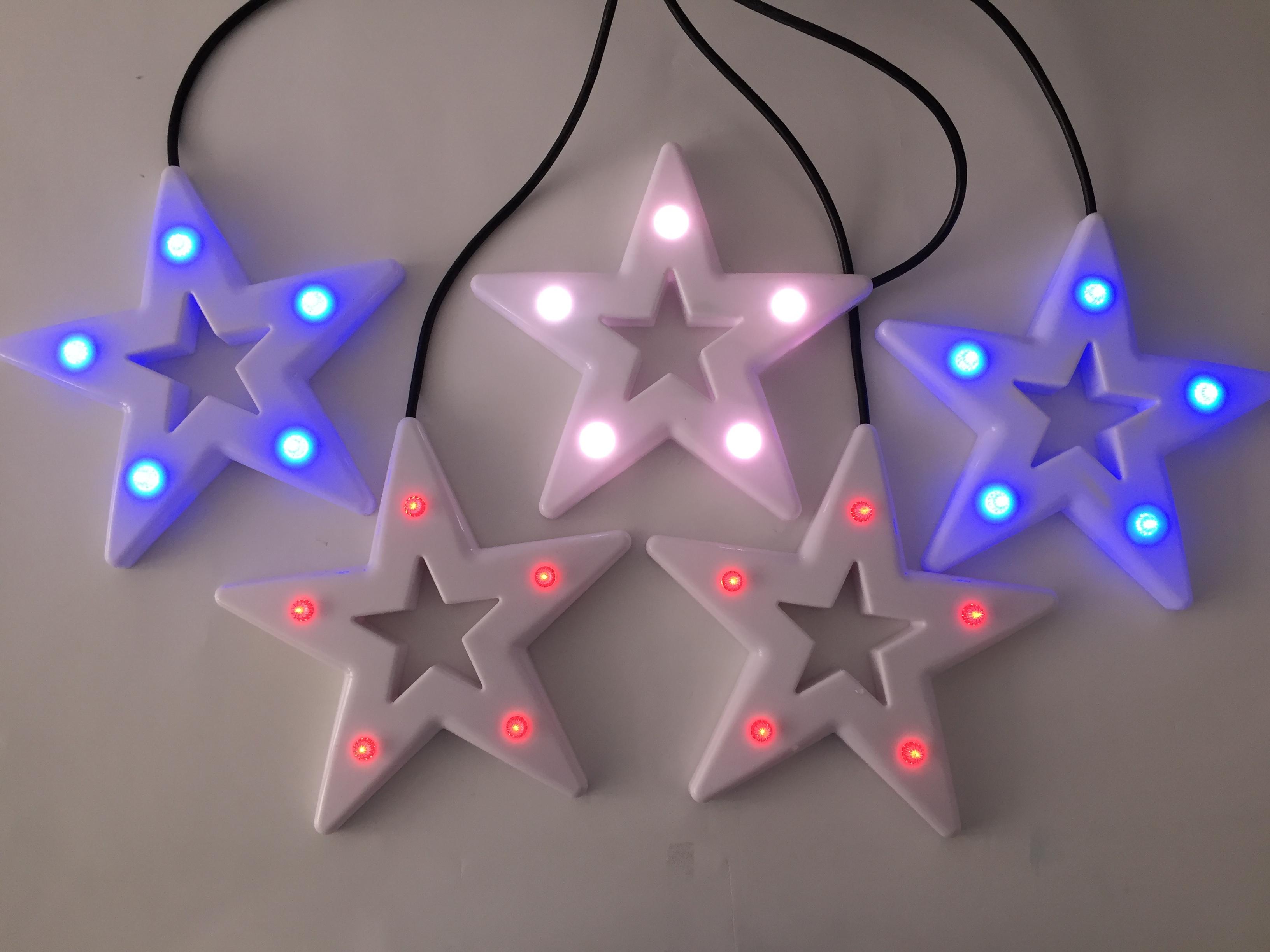 Led stern farbwechsel great er set mit warmwei oder farbwechsel mit timer herzen with led stern - Led baumspitze stern ...