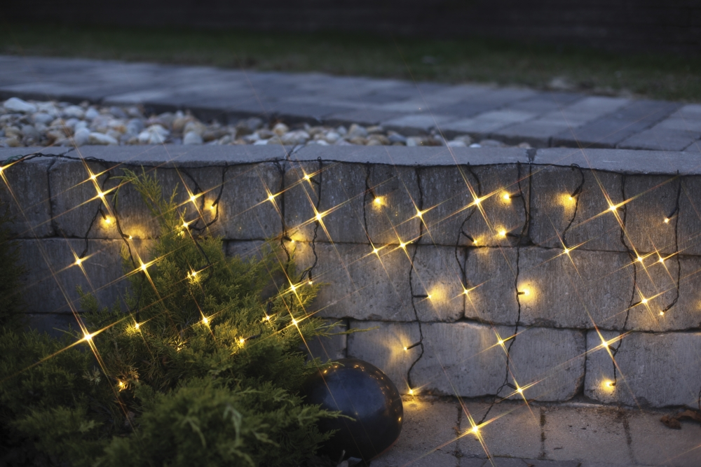 led lichterkette eiszapfen 144 teilig warmwei 498 56. Black Bedroom Furniture Sets. Home Design Ideas